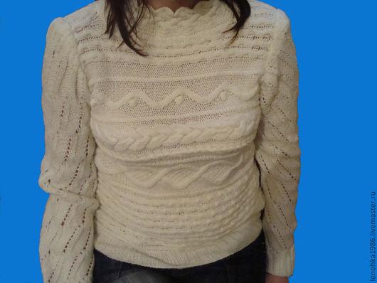 Кофты и свитера ручной работы. Ярмарка Мастеров - ручная работа. Купить женский свитер Зимние узоры. Handmade. Женская одежда