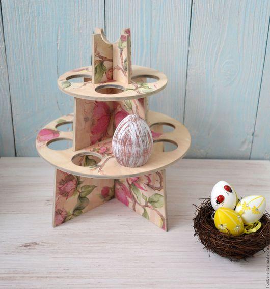 Кухня ручной работы. Ярмарка Мастеров - ручная работа. Купить Пасхальная подставка под яйца. Handmade. Салатовый, пасхальный подарок