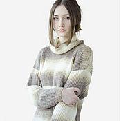Одежда handmade. Livemaster - original item Warm knitted dress (long tunic). Handmade.