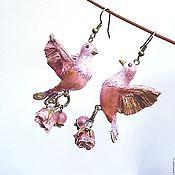 """Украшения ручной работы. Ярмарка Мастеров - ручная работа Серьги """"Pink sparks"""". Handmade."""
