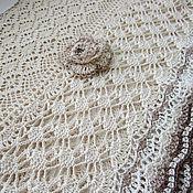 Аксессуары handmade. Livemaster - original item Scarf Snood-style boho cotton ( light beige) 4. Handmade.