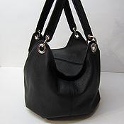 Сумки и аксессуары handmade. Livemaster - original item The bag is soft, airy. Genuine leather.Black floter.. Handmade.