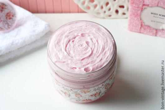 Пена, молочко для ванны ручной работы. Ярмарка Мастеров - ручная работа. Купить Вишня - большое суфле для душа. Handmade. Розовый