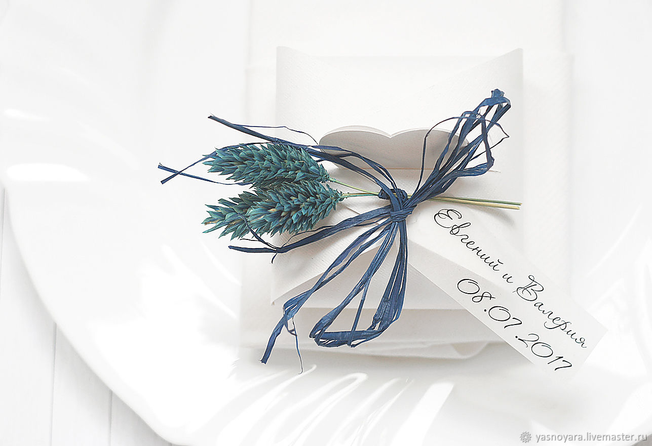 Wedding bonbonniere Blue accent (rustic, Country), Bonbonniere, Moscow,  Фото №1