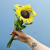 Цветы и флористика handmade. Livemaster - original item Sunflowers from cold porcelain. Handmade.
