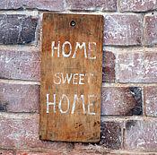 """Для дома и интерьера ручной работы. Ярмарка Мастеров - ручная работа """"HOME"""" старая интерьерная табличка. Handmade."""