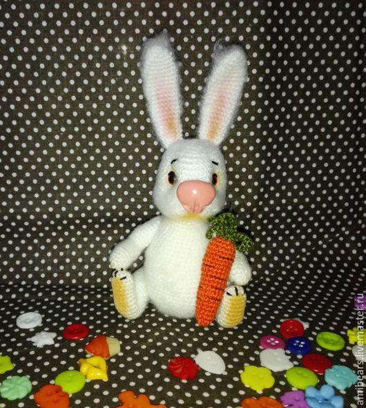 Игрушки животные, ручной работы. Ярмарка Мастеров - ручная работа. Купить Братец Кролик с морковкой. Handmade. Белый, кролик тедди