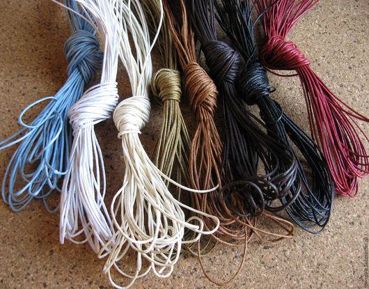 Для украшений ручной работы. Ярмарка Мастеров - ручная работа. Купить (10 м) Вощеный шнур (13 расцветок). Handmade.