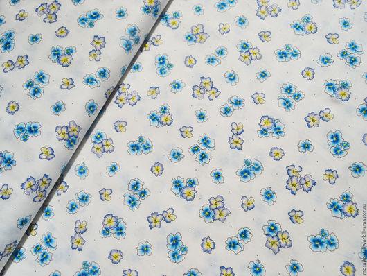 """Шитье ручной работы. Ярмарка Мастеров - ручная работа. Купить Хлопок ткань для пэчворка """"Цветочки на белом"""". Корея. Handmade. Комбинированный"""