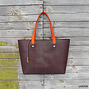 Сумки и аксессуары handmade. Livemaster - original item Leather bag(the tote) tote 5. Handmade.