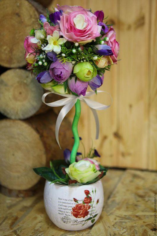 """Топиарии ручной работы. Ярмарка Мастеров - ручная работа. Купить Топиарий """"Райские цветы"""". Handmade. Комбинированный, топиарий своими руками"""