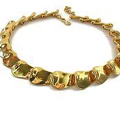 Винтаж ручной работы. Ярмарка Мастеров - ручная работа Monet винтажное колье чокер под золото. Handmade.