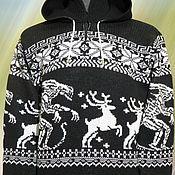 Одежда ручной работы. Ярмарка Мастеров - ручная работа Тату-свитер -  Охота (Чужие против оленей) вар.2. Handmade.