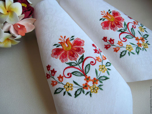 Вышитые салфетки, Салфетки с вышивкой, Декоративные салфетки, Русский стиль, Вышитая салфетка, Практичный подарок, Подарок на новоселье, Вышитый текстиль, Вышитая скатерть