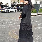 Платья ручной работы. Ярмарка Мастеров - ручная работа Комплект: платье -туника с гипюром и юбка с шифоном. Handmade.