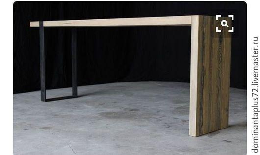 Мебель ручной работы. Ярмарка Мастеров - ручная работа. Купить Барный стол. Handmade. Дуб, ясень, металл, Дуб, ясень