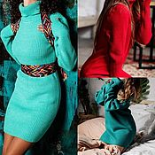 Одежда handmade. Livemaster - original item Dress Pearl.Style Oversize or Turtleneck .Yarn to choose from. Handmade.