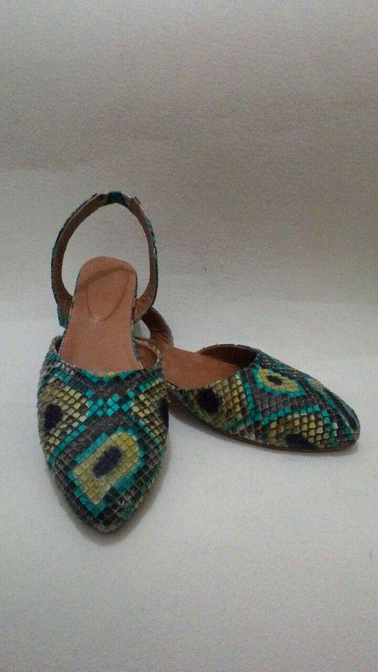 Обувь ручной работы. Ярмарка Мастеров - ручная работа. Купить Балетки из питона. Handmade. Балетки из питона, Балетки на заказ