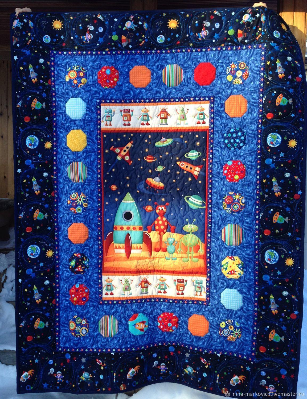 Одеяло Космические роботы, Одеяла, Новосибирск,  Фото №1