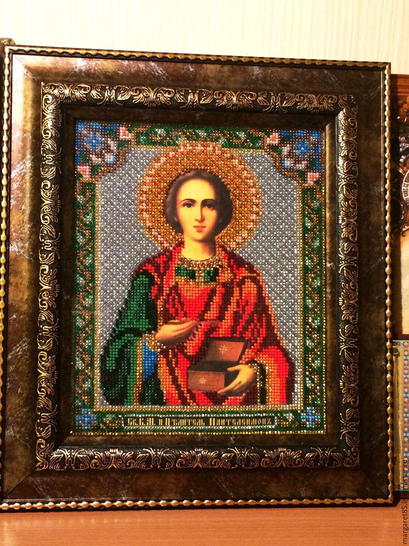 Фото икон сделанных из бисера