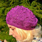 Аксессуары ручной работы. Ярмарка Мастеров - ручная работа Берет The Purple Grape Berries( Фиолетовые ягоды винограда). Handmade.