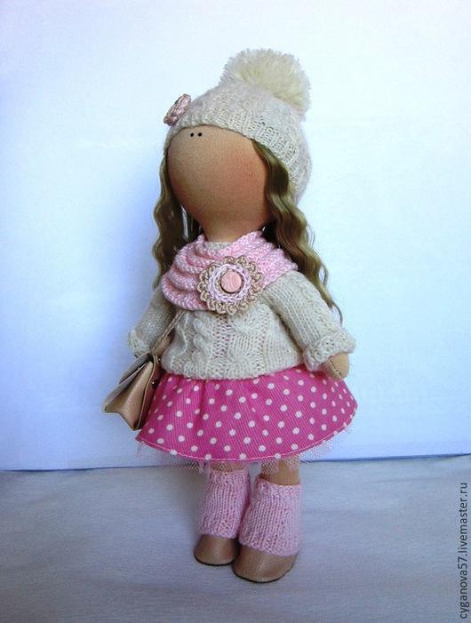 Куклы тыквоголовки ручной работы. Ярмарка Мастеров - ручная работа. Купить Люси. Handmade. Бледно-розовый, подарок на день рождения