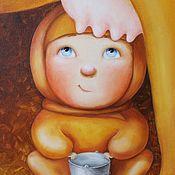 Картины и панно ручной работы. Ярмарка Мастеров - ручная работа Угости меня, прекрасная незнакомка. Handmade.