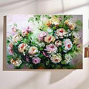 Картины и панно handmade. Livemaster - original item Roses oil painting on canvas. Handmade.