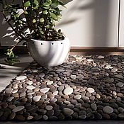 Ковры ручной работы. Ярмарка Мастеров - ручная работа Каменный коврик 50х80 см. Handmade.