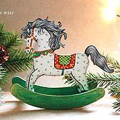 Подарки к праздникам ручной работы. Ярмарка Мастеров - ручная работа НОВИНКА!!! Деревянная лошадка на елку. ( ). Handmade.