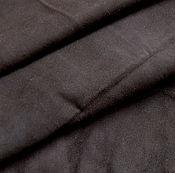 Материалы для творчества ручной работы. Ярмарка Мастеров - ручная работа Замша темный шоколад, овчина.. Handmade.
