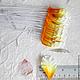 Лепестки желто-оранжевые мелкая волна My Thai Материалы для флористики из Таиланда