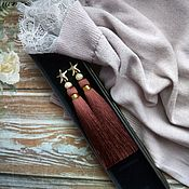 Earrings handmade. Livemaster - original item Earrings tassels Coffee, earrings, tassels, silk tassels. Handmade.