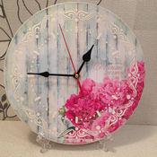 """Для дома и интерьера ручной работы. Ярмарка Мастеров - ручная работа часы """" сочиняй мечты"""" подарок для девушки,женщины( декупаж). Handmade."""