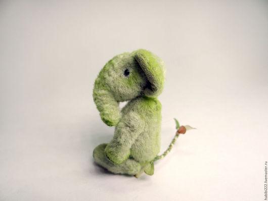 Мишки Тедди ручной работы. Ярмарка Мастеров - ручная работа. Купить Слон Листик. Handmade. Зеленый, талисман, игрушка