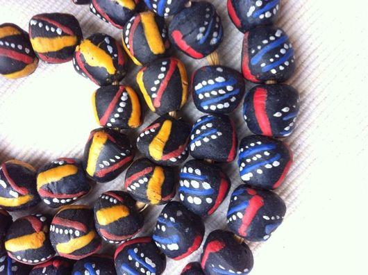 Для украшений ручной работы. Ярмарка Мастеров - ручная работа. Купить Африканские стеклянные бусины. 2 цвета.. Handmade. Гана