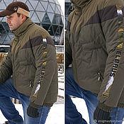 Одежда handmade. Livemaster - original item Green zip-up jacket, Mens bomber jacket, Olive Jacket with collar. Handmade.