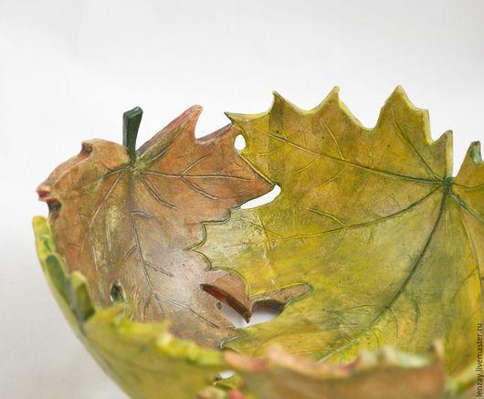 Пиала `Осенний клен`. Ажурная керамика и керамическая флористика Елены Зайченко