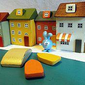 """Куклы и игрушки ручной работы. Ярмарка Мастеров - ручная работа игровой набор """"Городок у моря"""". Handmade."""