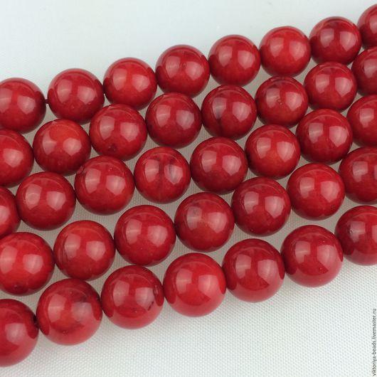 Для украшений ручной работы. Ярмарка Мастеров - ручная работа. Купить Коралл красный бусины натуральный. Handmade. Ярко-красный