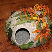 Для домашних животных, ручной работы. Ярмарка Мастеров - ручная работа Кошкин дом - Цветочный. Handmade.