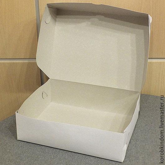 Упаковка ручной работы. Ярмарка Мастеров - ручная работа. Купить Коробочка 25х17х10 см без окна без вкладыша белая. Handmade.