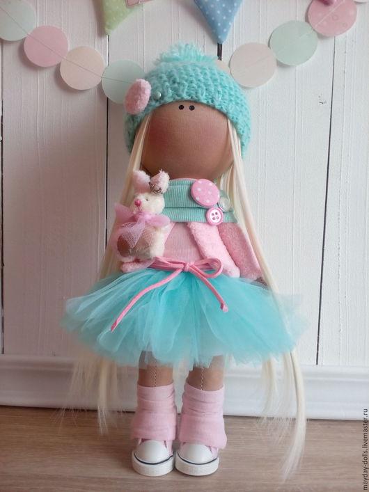 Куклы тыквоголовки ручной работы. Ярмарка Мастеров - ручная работа. Купить Интерьерная текстильная кукла большеножка Милана. Handmade. Комбинированный