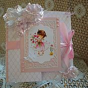 Открытки ручной работы. Ярмарка Мастеров - ручная работа Открытка с днем рождения ручной работы,  открытка для девочки. Handmade.