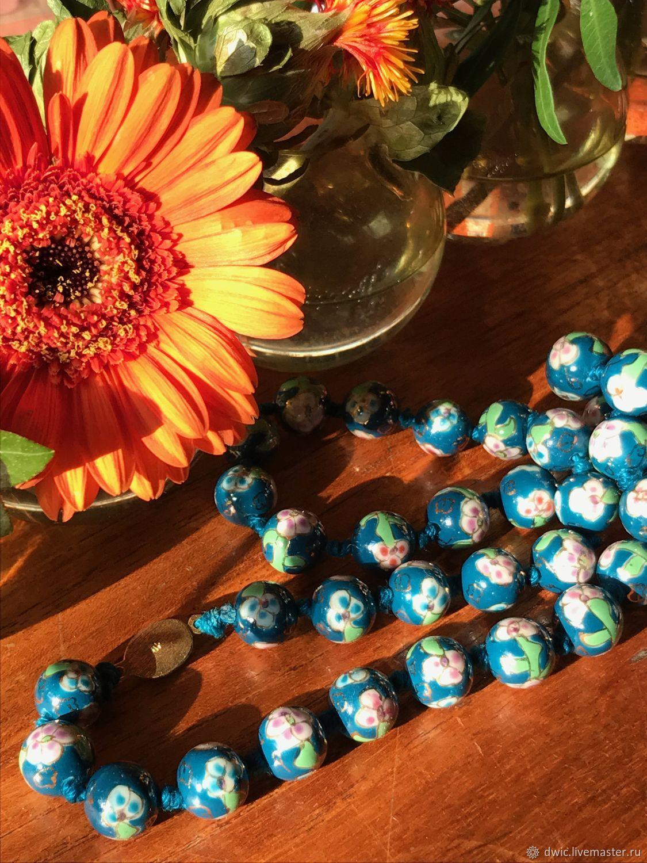 Beads vintage 'Tender Bud' (cloisonné), China, Vintage earrings, Arnhem,  Фото №1