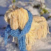 Куклы и игрушки ручной работы. Ярмарка Мастеров - ручная работа Лошадка с шарфиком. Handmade.