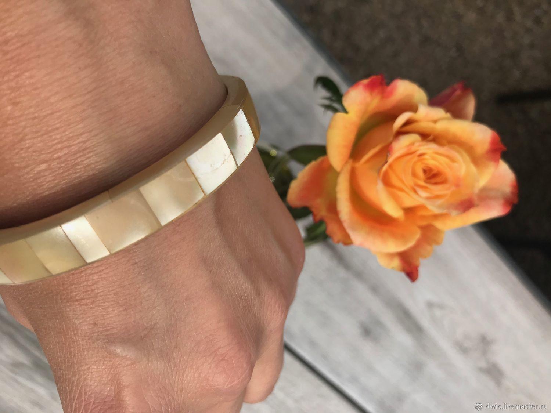 Delicate shimmer bracelet, mother of pearl, Holland, Vintage bracelets, Arnhem,  Фото №1