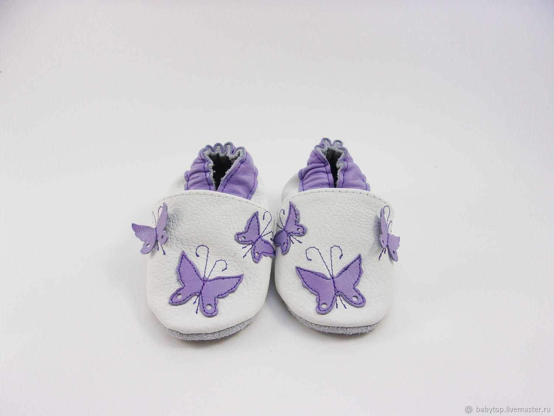 0f0247062 Детская обувь ручной работы. Ярмарка Мастеров - ручная работа. Купить  Кожаные тапочки'Бабочки ...