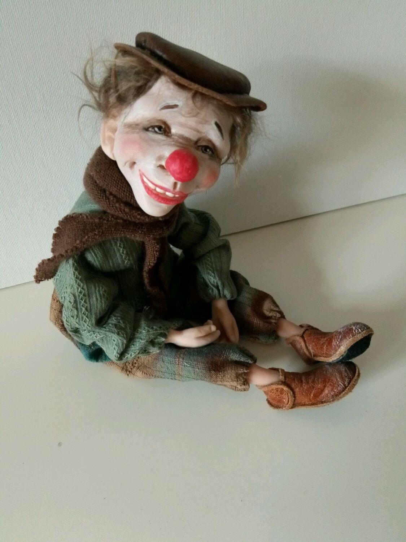 Коллекционные куклы ручной работы. Ярмарка Мастеров - ручная работа. Купить Клоун Вася. Handmade.