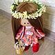 Коллекционные куклы ручной работы. Ярмарка Мастеров - ручная работа. Купить Интерьерная текстильная кукла.. Handmade. Разноцветный, шитьё кружево